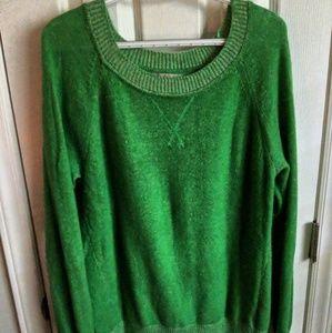 Green scoop neck sweater